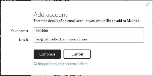 Adding Exchange Account in Mailbird – Mailbird